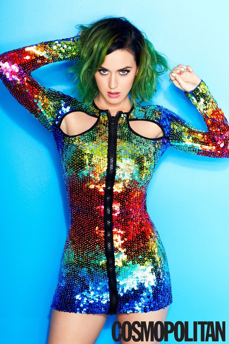 Katy Perry posa... Rainbow Hair Tumblr
