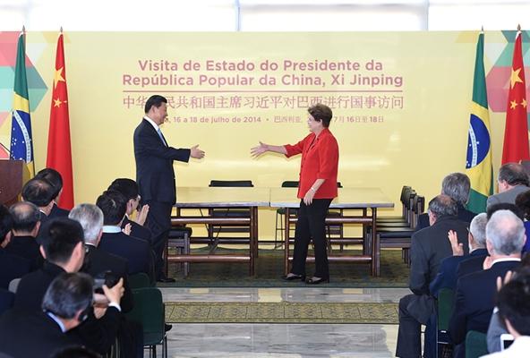 China y Brasil firman acuerdos financieros