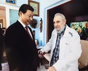 Presidente de China visita a líder revolucionario cubano Fidel Castro