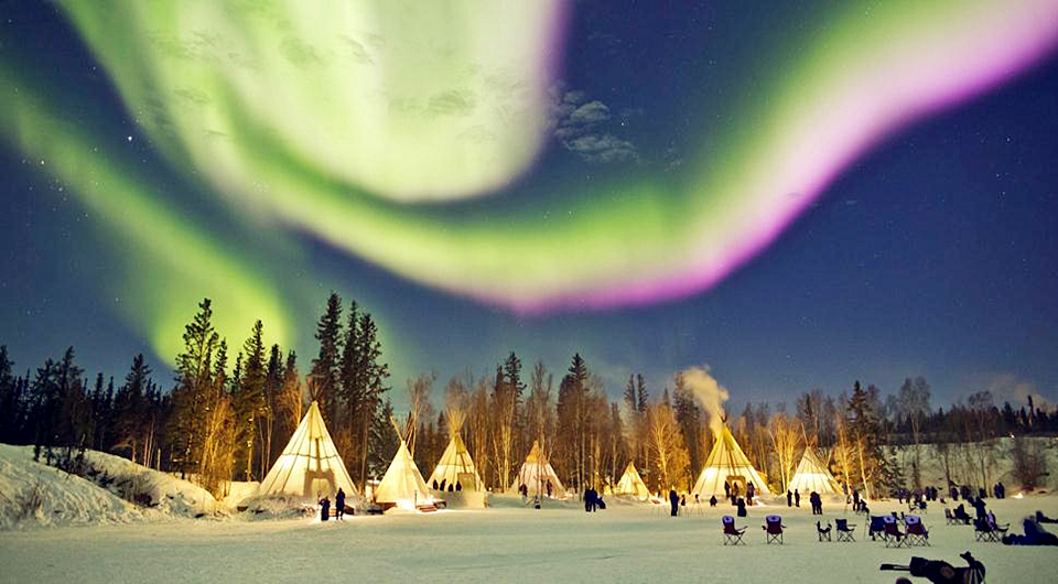 En fotos: las espectaculares auroras boreales de Canadá