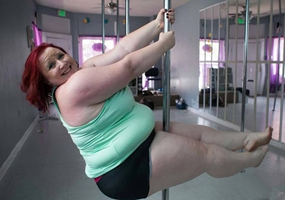 LuAyne Brown, la bailarina más gorda de 'pole dance'
