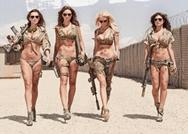 Mujeres posan en bikini en el base militar de EE.UU.