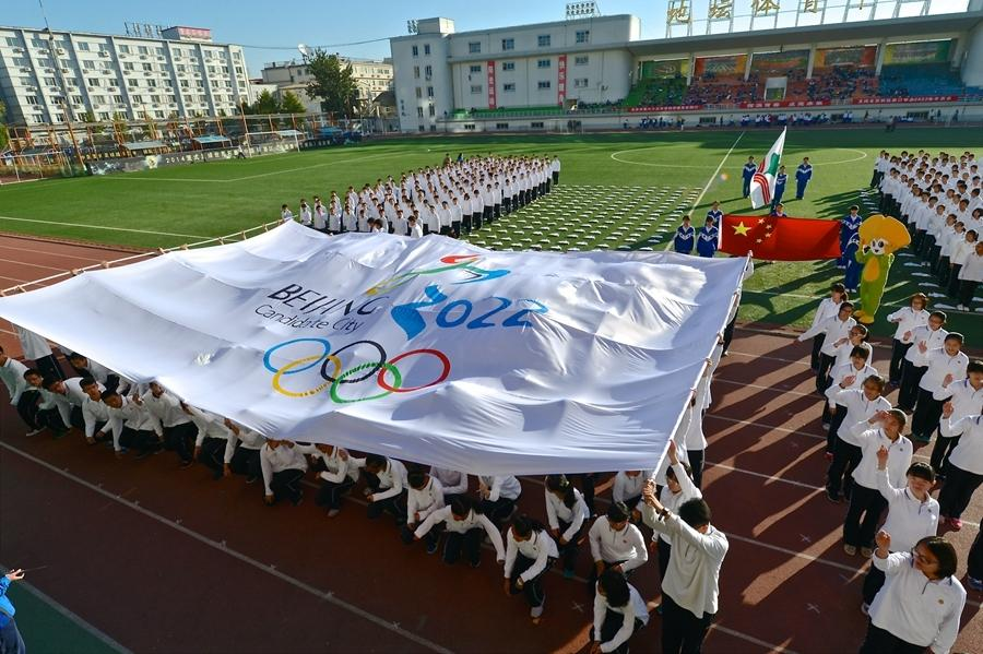 Alumnos de Beijing expresan sus deseos de organizar los JJOO 2022