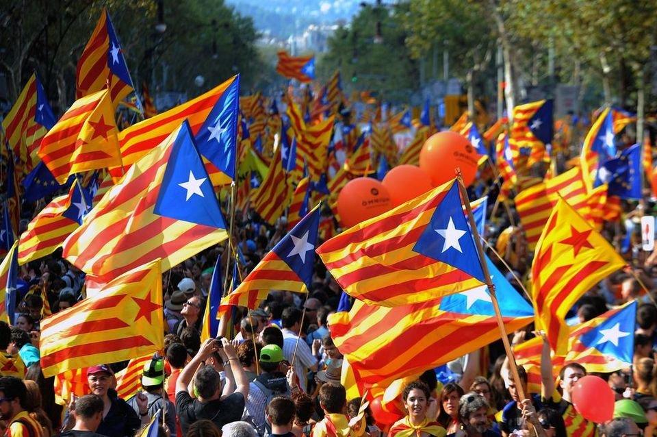 Masiva concentración en Barcelona por la independencia 22