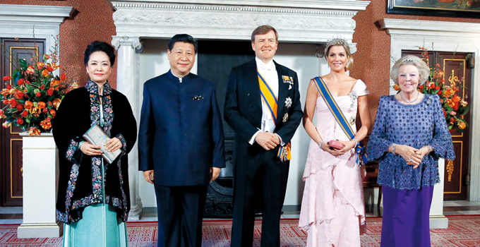 Xi Jinping en Amsterdam en 2014