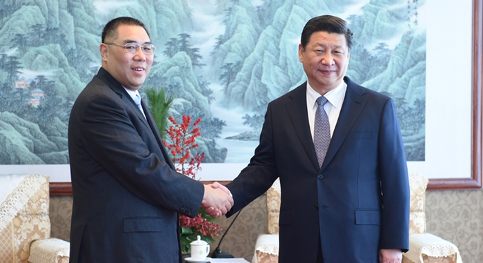 Presidente chino se reúne con jefe ejecutivo de RAE de Macao