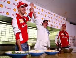 Los pilotos de Fórmula 1 aprenden cocinar