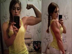 Chica bella de Rusia con músculo en China