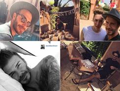David Beckham sopla sus 40 velas con su familia