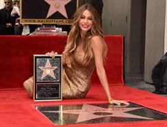 Sofía Vergara recibió su estrella en el Walk of Fame de Hollywood