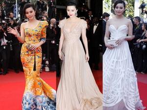 Los vestidos de Fan Bingbing en Cannes de los últimos años