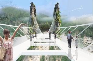 ¿Te atreverías a cruzar por el puente de vidrio más largo del mundo?