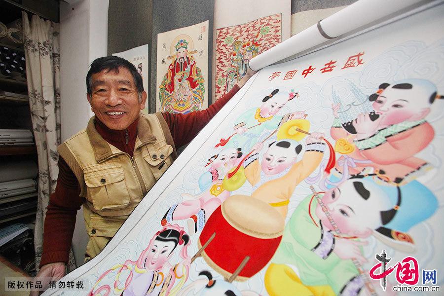 """Enciclopedia de la cultura china: El artista """"todopoderoso"""" de las estampas de Año Nuevo de Yangliuqing 1"""