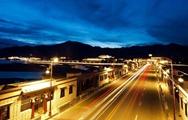 Panorama nocturna de Lhasa, Tíbet