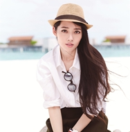 Actriz china Guo Biting posa hermosa para la revista