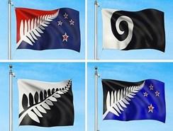 Los cuatro diseños finalistas para convertirse en la nueva bandera de Nueva Zelanda