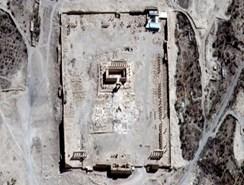 Las imágenes por satélite muestran la destrucción llevada a cabo por el EI
