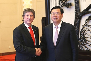 Máximo legislador de China se reúne con vicepresidente de Argentina