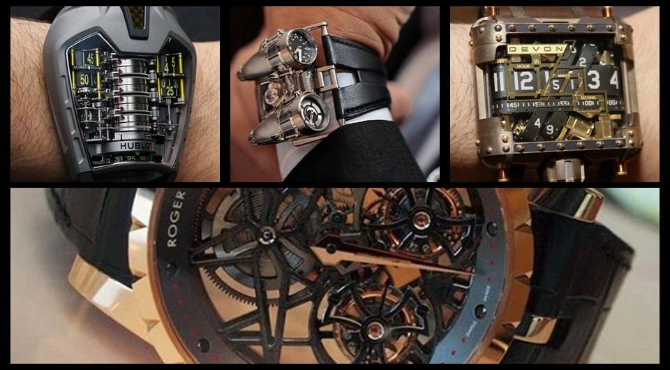 Estos curiosos y exclusivos relojes te dejarán olvidar del iWatch