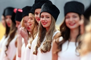 Azafatas guapas de la Fórmula 1 de Rusia