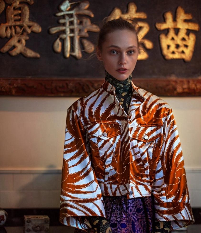 Modelos posan para Vogue en estilo chino