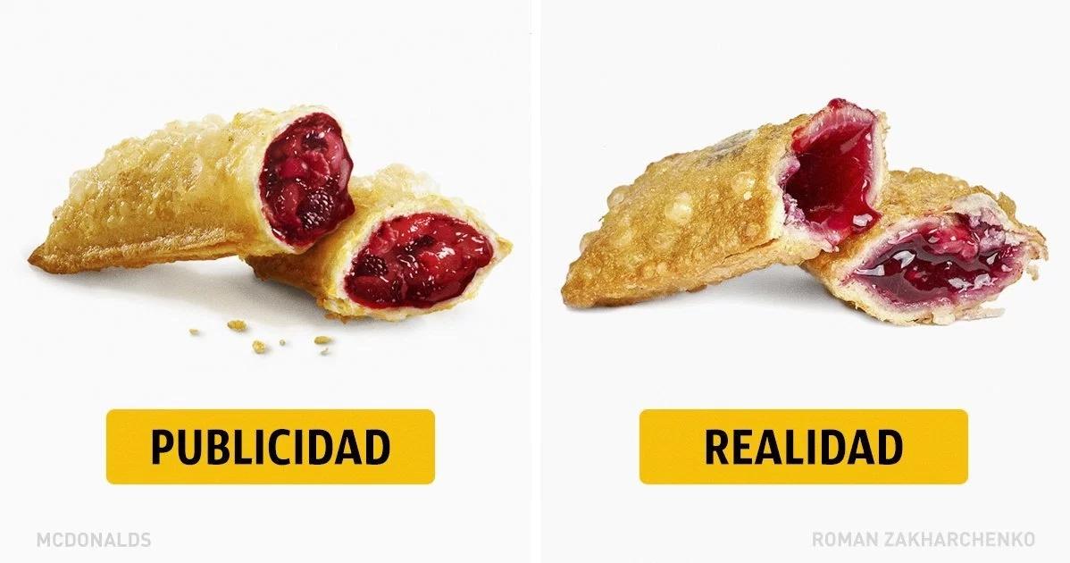 Comida rápida: publicidad vs. realidad