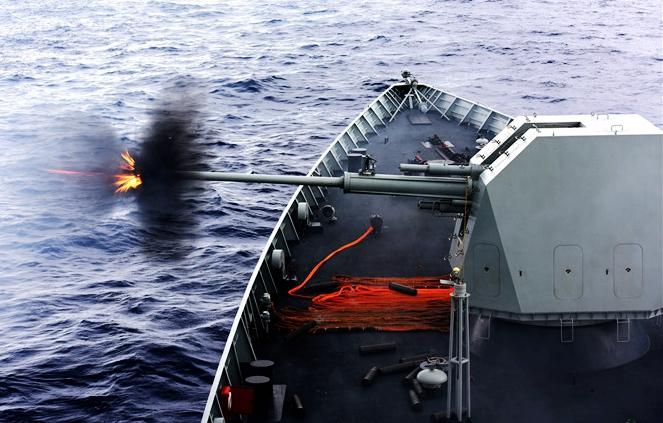 Marina china realiza maniobras con munición real