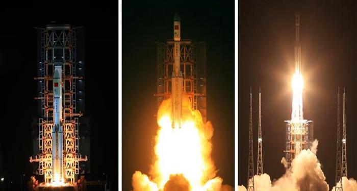 China lanza nueva generación del cohete portador Gran Marcha-7