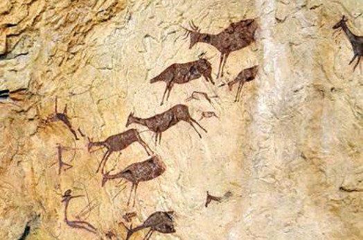 Descubiertas en España unas pinturas rupestres de hace 7.000 años