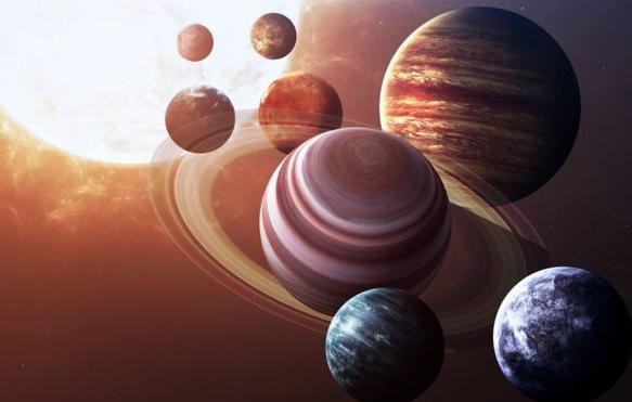 ¿De qué color son los planetas?