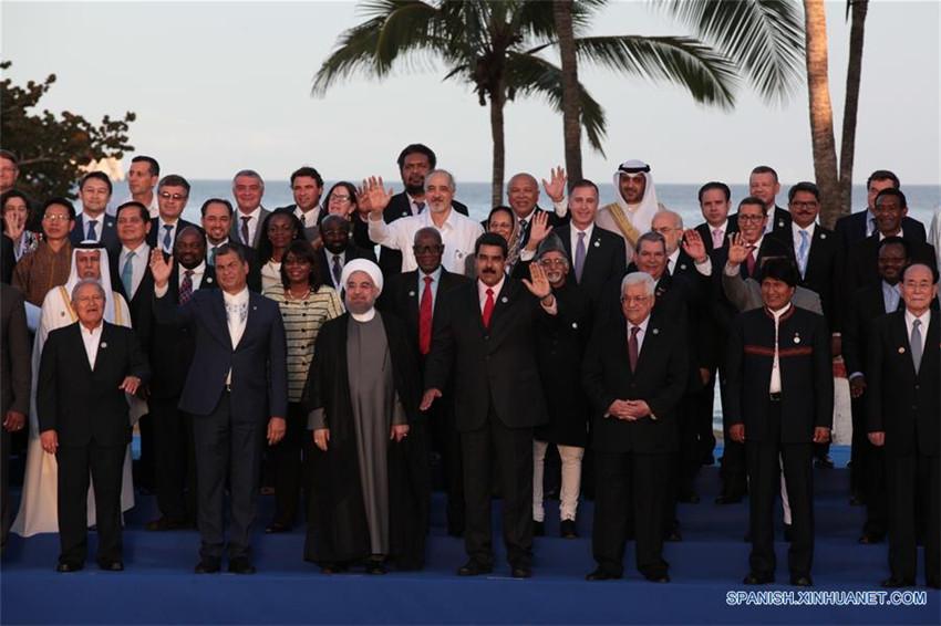 Declaración final de la XVII Cumbre de Mnoal condena el apoyo israelí a los grupos terroristas en Siria.