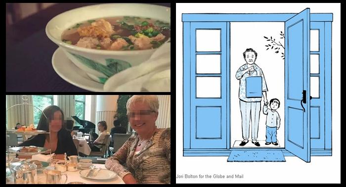 Abuela china se gana a los canadienses con su comida