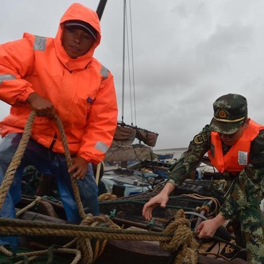 55.000 botes regresan a puerto en China ante cercanía de tifón 'Megi'