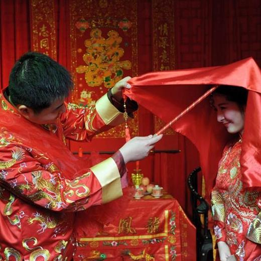 Tradicional ceremonia de boda china