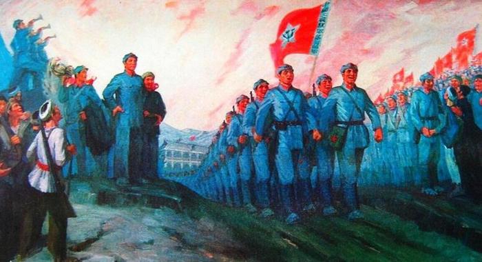 Soldados extranjeros admiran Gran Marcha del Ejército Rojo chino
