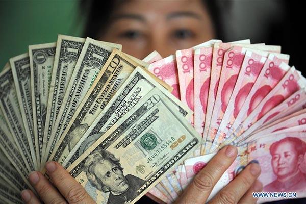 El RMB vuelve a bajar frente al dólar estadounidense