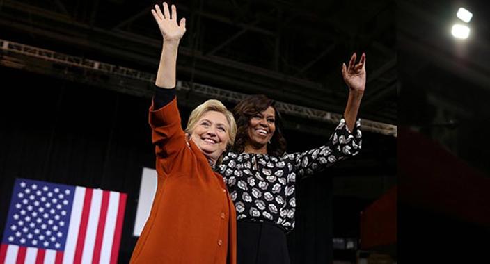 Clinton apela a su arma secreta: Michelle Obama