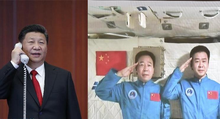 Presidente Xi conversa con astronautas de laboratorio espacial
