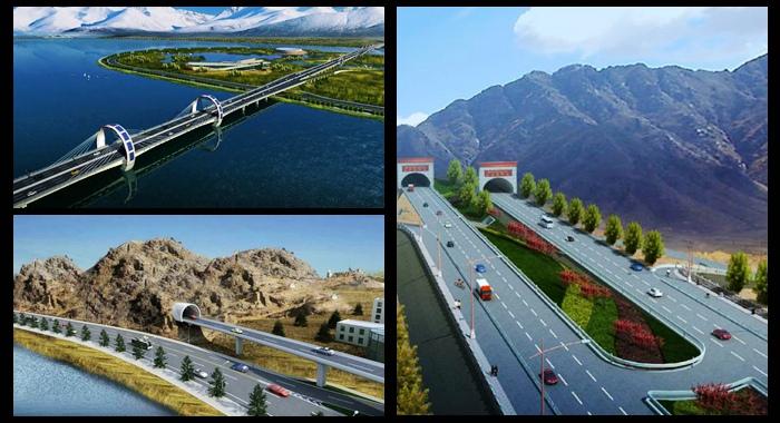 China construye la autopista más alta del mundo en el Tíbet