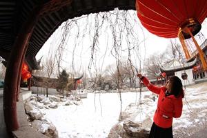 Experimenta el ambiente del año nuevo chino en la nieve