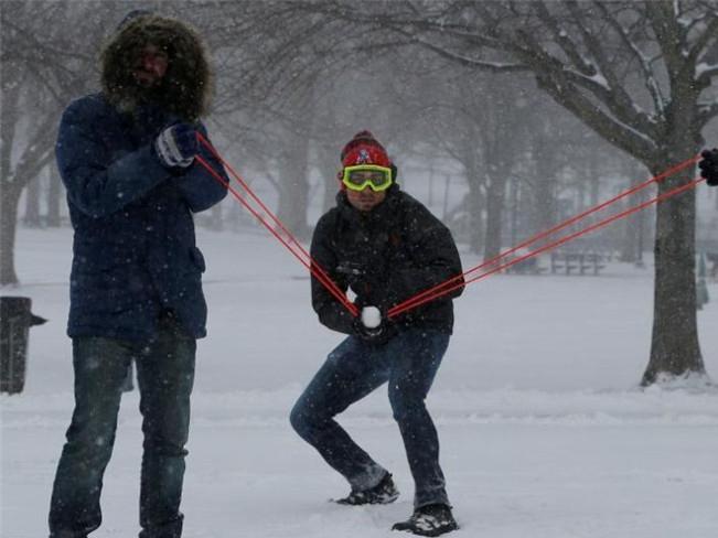 Nieve trae efectos y a la vez alegrías