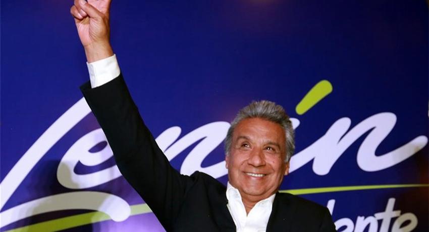 Moreno se declara vencedor en elecciones de Ecuador