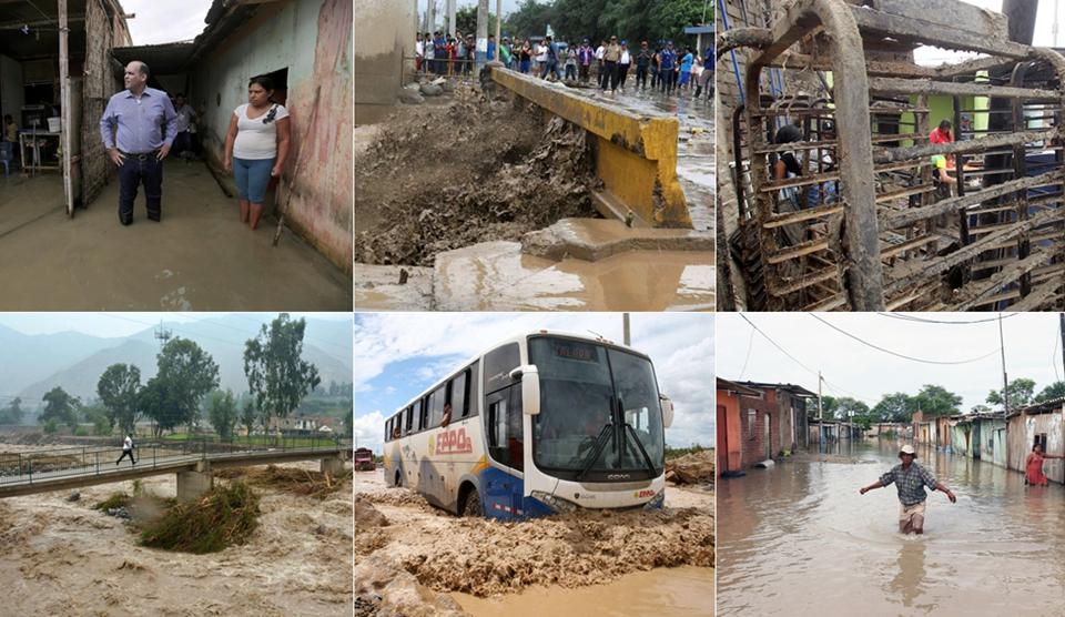 Pérdidas y destrucción dejadas por las fuertes lluvias en Perú