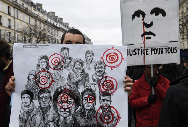 Marcha en París contra la violencia policial y el racismo3