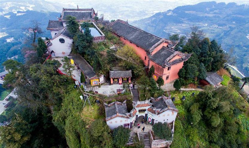 Chongqing: Templo Jingyin en un barranco de Montaña Gujian