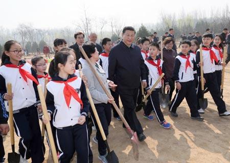 Presidente chino subraya importancia de reforestación