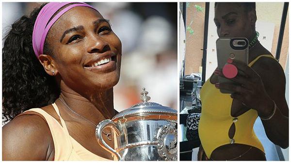 La tenista Serena Williams, embarazada de su primer hijo