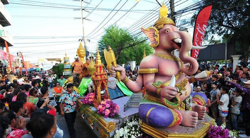 Festival Songkran en Tailandia