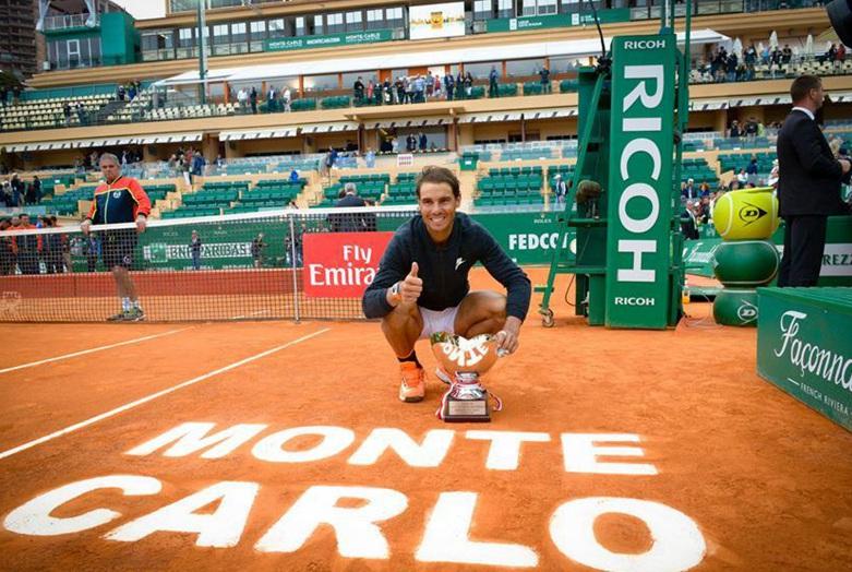 Español Rafael Nadal conquista décimo Master 1000 de Montecarlo