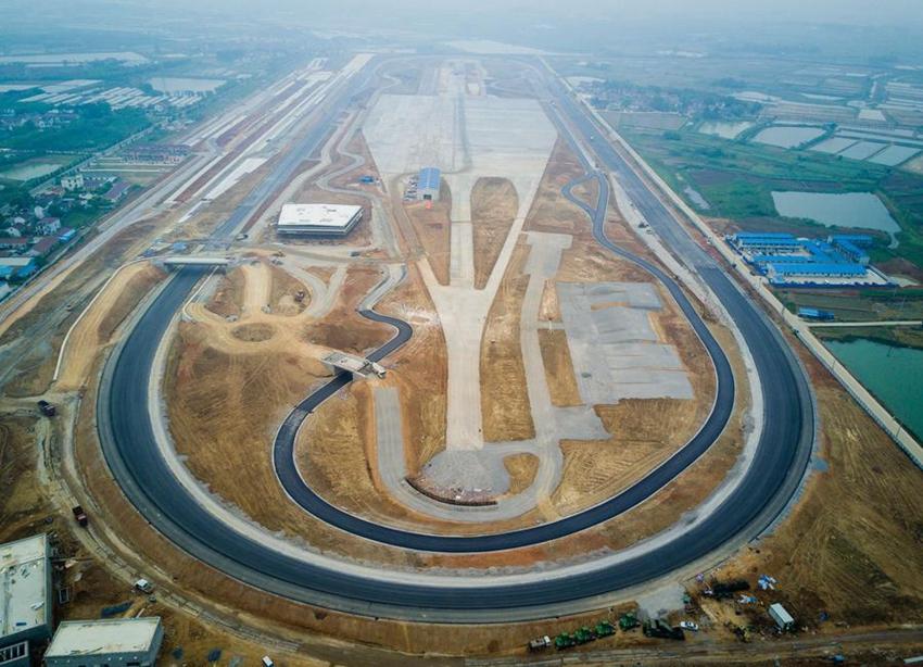 Compañía china logra construir pista de prueba en Nanjing